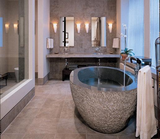 Oval Bathtub Blue-Gray Granite by Stone Forest | Bathtubs