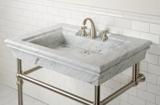 Bordeaux Vanity, Carrara Marble by Stone Forest | Wash basins