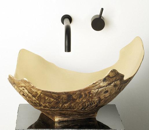 Chalice Vessel Sink, Golden Bronze by Stone Forest | Wash basins