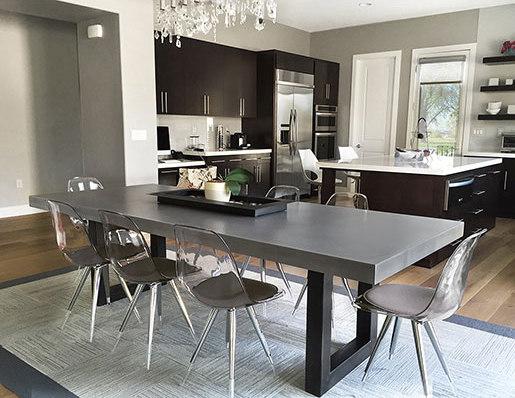 Zen Concrete Dining Table de Trueform Concrete | Tables de repas