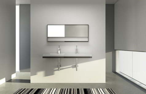 Floating Sink Bracket System By WETSTYLE | Wall Mirrors
