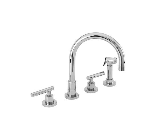 East Linear Series - Kitchen Faucet with Side Spray 9911L by Newport Brass | Kitchen taps