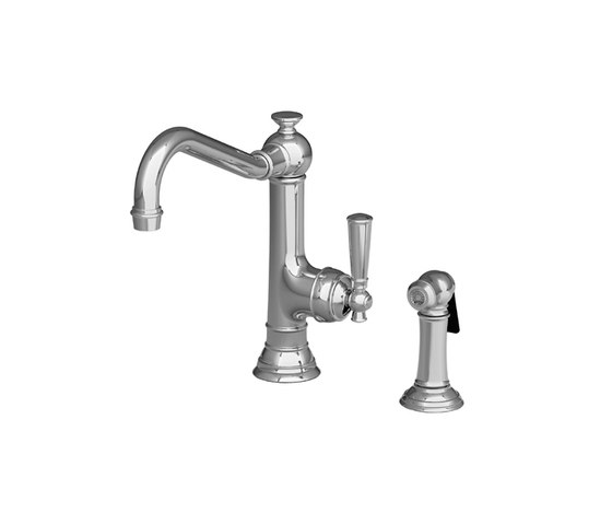 Jacobean Series - Single Handle Kitchen Faucet with Side Spray 2470-5313 by Newport Brass | Kitchen taps