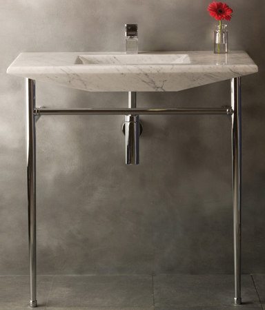 Cortina Console, Carrara marble by Stone Forest | Wash basins