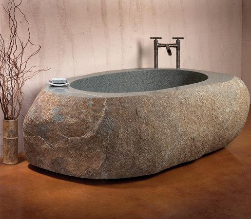 Natural Bathtub, Green-Gray Granite by Stone Forest   Bathtubs