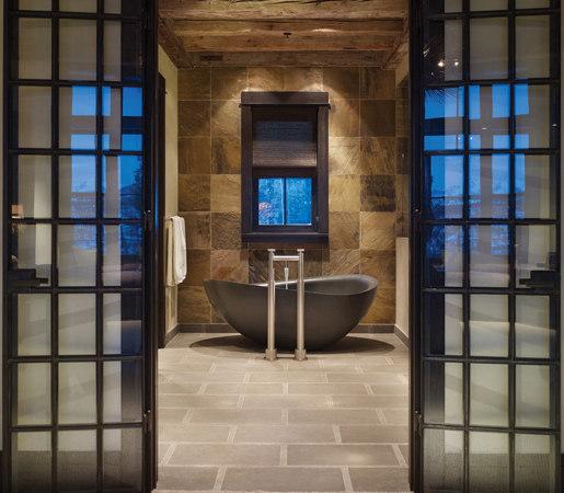 Papillon Bathtub, Honed Black Granite by Stone Forest | Bathtubs