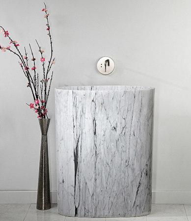 Infinity Pedestal Sink, carrara marble by Stone Forest | Wash basins