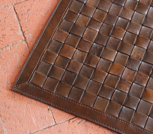 Viceroy Woven Leather Rug by Pfeifer Studio | Rugs