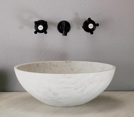 Urban Vessel Sink, Carrara Marble by Stone Forest | Wash basins