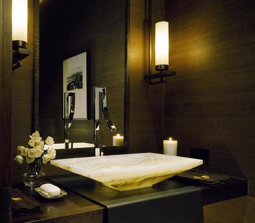 Verona Vessel Sink, White Onyx by Stone Forest   Wash basins
