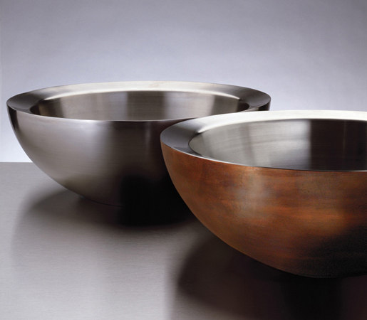 Small Beveled Vessel Sink, Copper-Stainless by Stone Forest | Wash basins