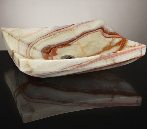 Zen Vessel Sink, Multi-Colored Onyx by Stone Forest | Wash basins