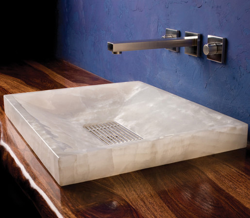 SYNC Drop-In Vessel Sink, Ice White Onyx by Stone Forest | Kitchen sinks