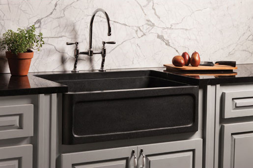 New Haven Farmhouse Sink, honed basalt - Kitchen sinks by Stone Forest ...