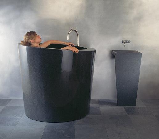 Oval Soaking Tub , Black Granite by Stone Forest | Bathtubs