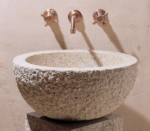 Oval Vessel Sink, Beige Granite by Stone Forest | Wash basins