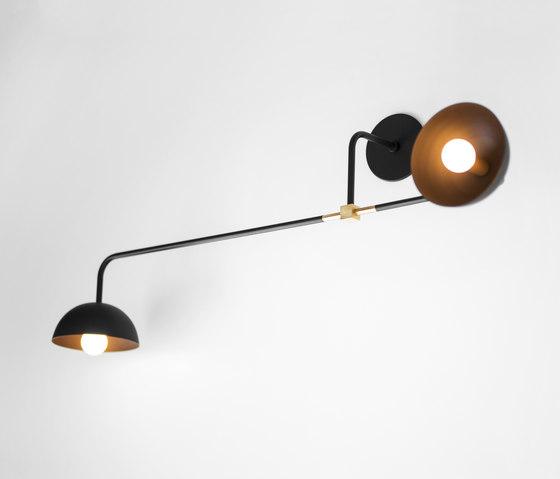 Beaubien | Wall Double Shade by Lambert et Fils | Wall lights