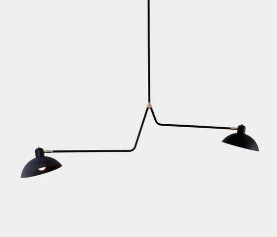 Waldorf   Suspension Double by Lambert et Fils   Suspended lights