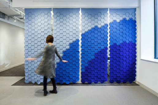 Link by FilzFelt | Sound absorbing suspended panels