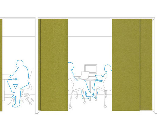 Solid | Hanging Panel by FilzFelt | Sound absorbing suspended panels