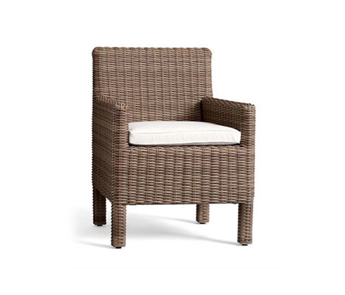 Torrey All Weather Wicker Dining Chair   Natural By Distributed By  Williams Sonoma,