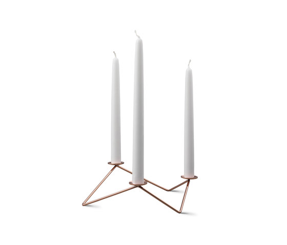 Avani | Copper Polished Finish by beyond Object | Candlesticks / Candleholder