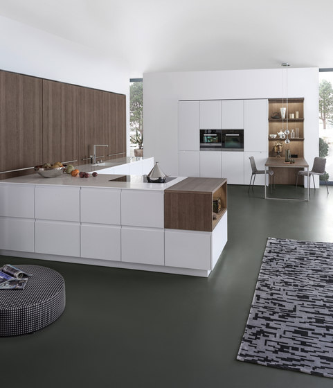 pur fs topos fitted kitchens from leicht k chen ag. Black Bedroom Furniture Sets. Home Design Ideas