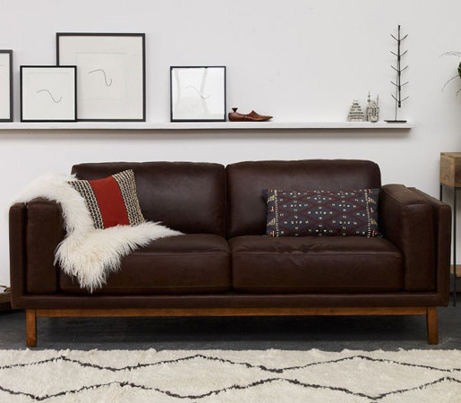 Dekalb Premium Leather Sofa By Distributed Williams Sonoma Inc To The Trade