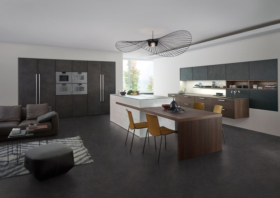 topos concrete fitted kitchens from leicht k chen ag. Black Bedroom Furniture Sets. Home Design Ideas