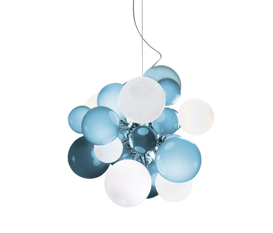 Digit Chandelier | Ceiling | soft skyblue von Emmanuel Babled | Pendelleuchten