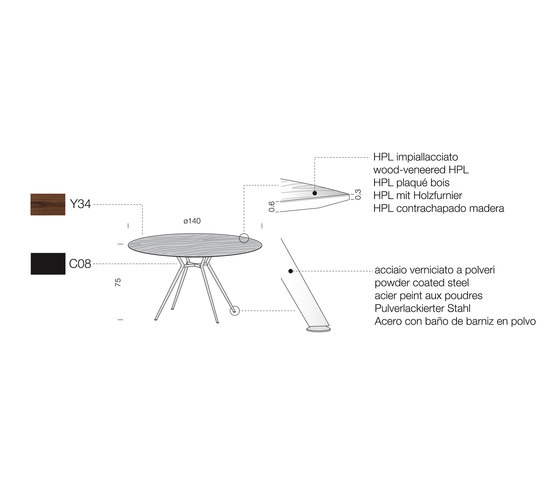 Balance BA03 by Extendo | Restaurant tables