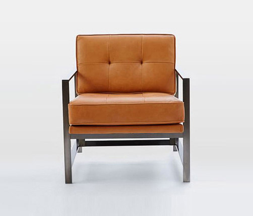 Charmant ... Metal Frame Leather Chair By Distributed By Williams Sonoma, Inc. TO  THE TRADE ...