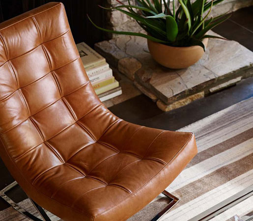 Williams Sonoma Home James Nickel Leather Chair By Distributed