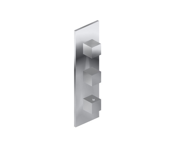 Aqua-Sense - Concealed Thermostatic and 2 shut-off valves - Exposed Parts by Graff   Shower controls