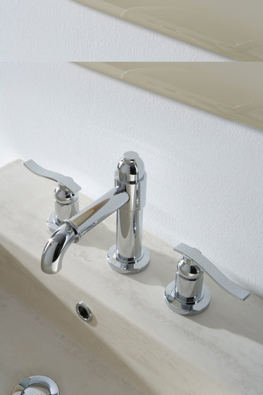 Bali - Three-hole washbasin mixer by Graff | Wash basin taps