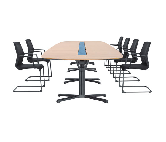pulse conference table de Wiesner-Hager | Mesas de conferencia multimedia