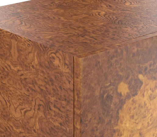 ... Wythe Burled Wood Double Console By Distributed By Williams Sonoma,  Inc. TO THE