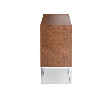 Wythe Burled Wood Double Console de Distributed by Williams-Sonoma, Inc. TO THE TRADE   Buffets