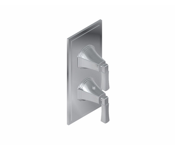 "Finezza - 3/4"" Concealed thermostat and diverter with 2 outlets- exposed parts by Graff 