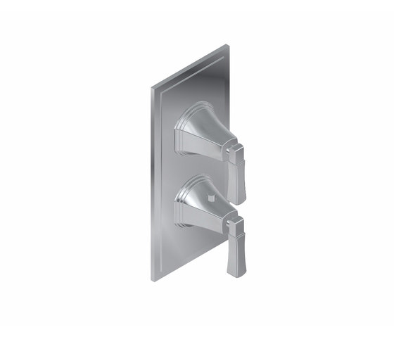 Finezza - Concealed thermostat and diverter with 3 outlets - exposed parts by Graff   Shower controls
