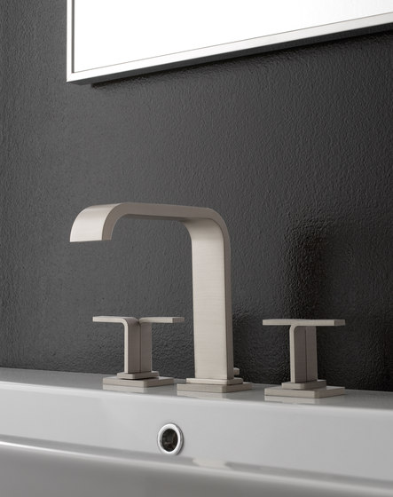 Immersion - Three-hole washbasin mixer by Graff   Wash basin taps