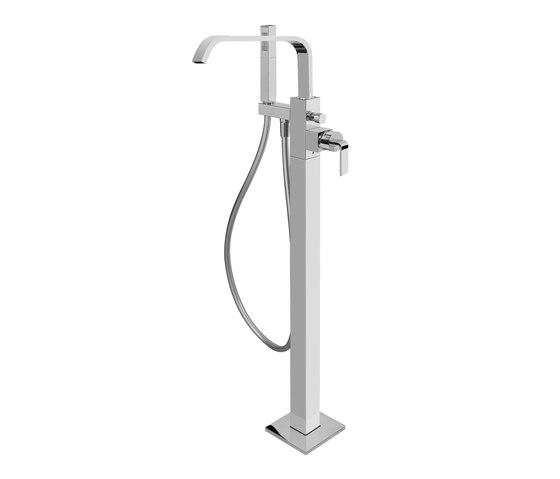 Immersion - Floor-mounted bathtub mixer by Graff | Bath taps