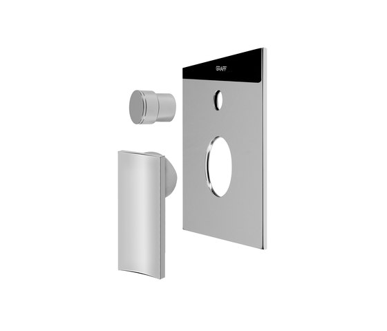 "Sade - Concealed shower mixer with diverter 1/2"" - exposed parts by Graff 
