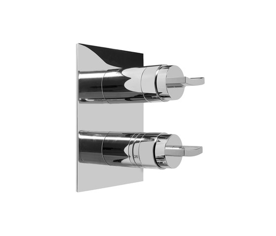 """Sade - 1/2"""" concealed thermostatic and cut-off-valve-exposed parts by Graff 
