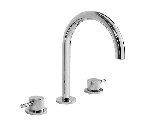 M.E. 25 - Three-hole washbasin mixer by Graff   Wash basin taps