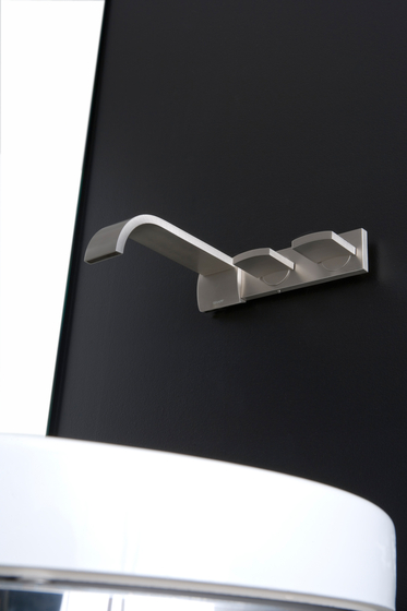 Sade - Wall-mounted basin mixer with 20 cm spout by Graff | Wash basin taps