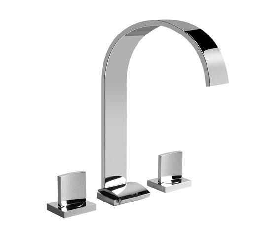Sade - Three-hole washbasin mixer by Graff   Wash basin taps