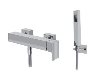 Sade - Wall-mounted shower mixer with handshower set by Graff | Shower controls