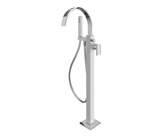Sade - Floor-mounted bathtub mixer by Graff   Bath taps
