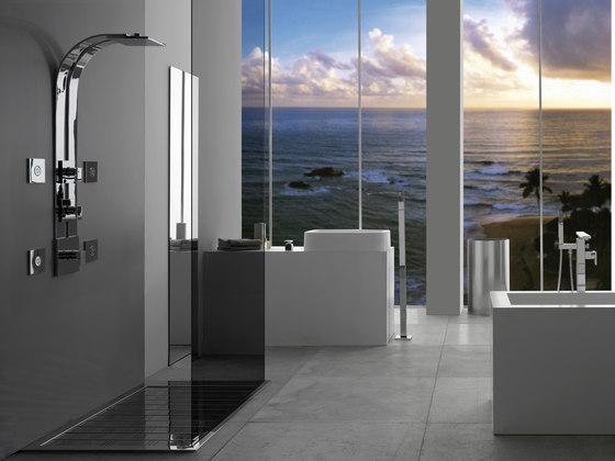 Solar - Thermostatic SKI shower set - exposed parts by Graff | Shower controls